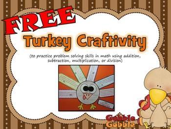 Turkey Craftivity: {Math Problem Solving}