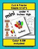Turkey - Cut & Paste Craft - Mini Craftivity for Pre-K & K