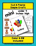Turkey - Cut & Paste Craft - Mini Craftivity for Pre-K & K