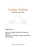 Turkey Cut and Paste Craft