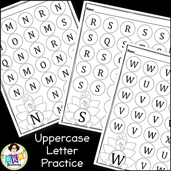Thanksgiving Letter Recognition ● Turkey Dab It ● Uppercase ● Lowercase ●No Prep