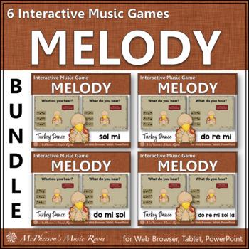 Turkey Dance Interactive Melody Games {Bundle}