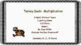 Turkey Dash:  Multiplication 0-3 Facts PDF Version