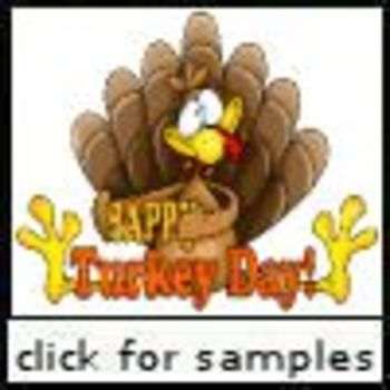 Turkey Day Bingo (Capital Letters)