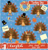 Turkey Day Digital Clipart