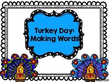 Turkey Day Making Words