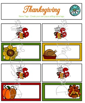 Turkey Day Mini Set - Color and Line Art