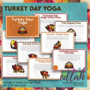Turkey Day Yoga Cards (or printable booklet)