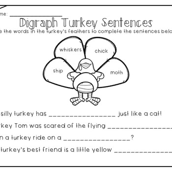 Turkey Digraph Sort (wh, th, sh, ch)