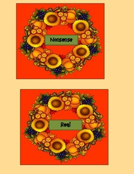 Turkey Dinner - Nibbling Nonsense Words Station