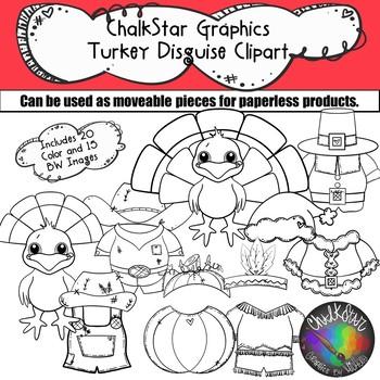 Turkey Disguise Clip Art- Chalkstar Graphics