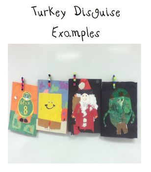 Turkey Disguise writing- Thanksgiving