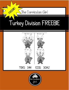 Turkey Division FREEBIE (TEKS 3.4H, CCSS 3.OA.2)