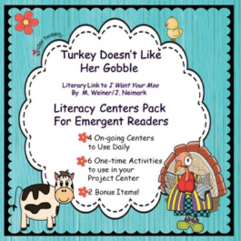 Turkey Doesn't Like Her Gobble-Literacy Centers for Emergent Readers