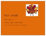 Turkey Dolch Sight Words for Thanksgiving