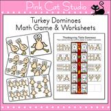 Turkey Dominoes Thanksgiving Math Game -  A Fun Fall Center