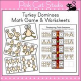 Thanksgiving Math Game - Turkey Dominoes Math Center