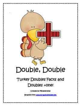 Turkey Doubles Facts and Doubles Plus One