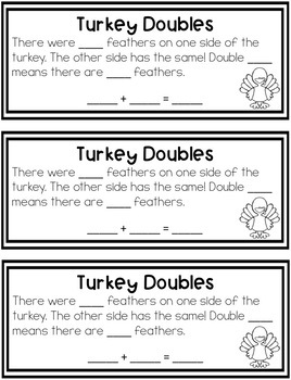 Turkey Doubles Math Craftivity