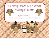 Turkey Draw-A-Feather Addition Packet