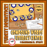 COMPOUND WORDS Literacy Center  Compound Words Activity  Thanksgiving Theme