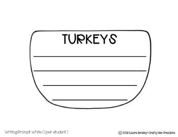 Turkey Easy Writing Craft