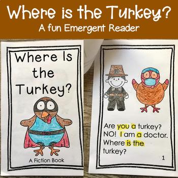 Turkey Emergent Reader - A Fiction Book