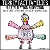 Turkey Fact Families-Multiplication and Division