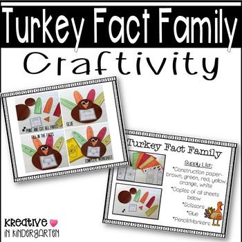 Turkey Fact Family Craftivity