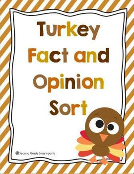 Turkey Fact and Opinion Sort