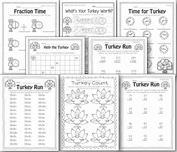 Turkey Fact-ivity, Literacy, Math, and More