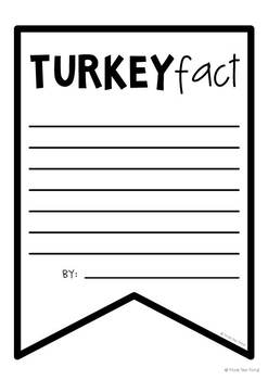 Turkey Facts Banner {Bunting, Garland, Pennant Display}