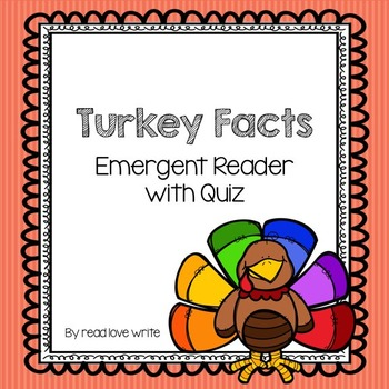 Turkey Facts Emergent Reader with Quiz