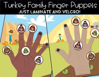 Turkey Family Finger Play Pack