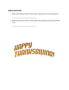 Turkey Farm: A Thanksgiving Perimeter Activity