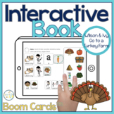 Turkey Farm Interactive Book Boom Cards™️   Thanksgiving Speech Therapy