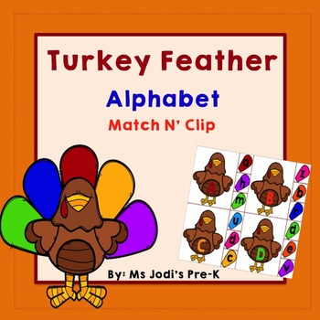 Turkey Feather Alphabet Match N' Clip