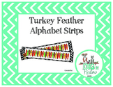 Turkey Feather Alphabet Strips