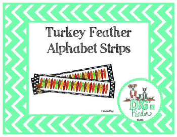 Turkey Feather Alphabet Strips