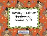 Turkey Feather Beginning Sound Sort