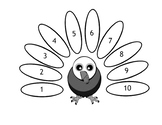 Turkey Feather Counting Coloring Page
