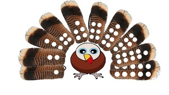 Turkey Feather Counting Interactive Activity Powerpoint
