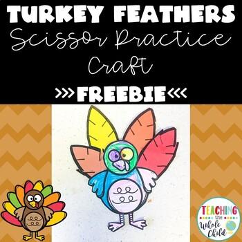 Turkey Feather Craft- Scissor Practice Fine Motor Activity- Preschool, Pre-K