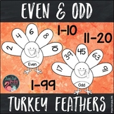 Even and Odd Number Turkey Feathers