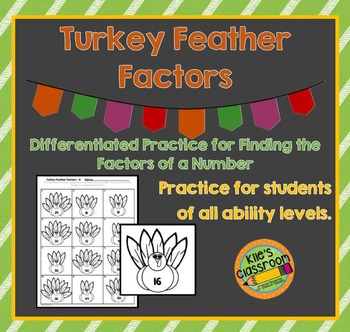 Turkey Feather Factors- Thanksgiving Themed Math Practice