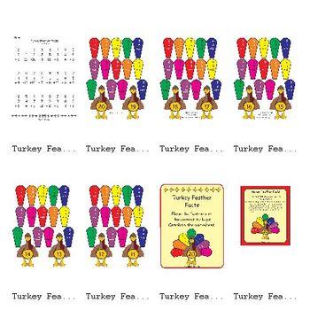 Turkey Feather Facts (1.OA.2)