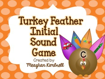 Turkey Feather Initial Sound Game