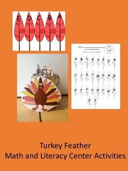 Turkey Feather Literacy and Math Center Activity
