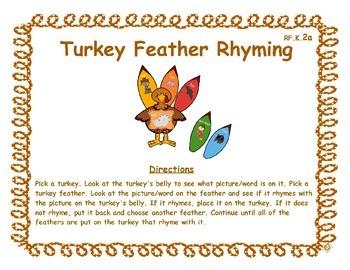 Turkey Feather Rhyming