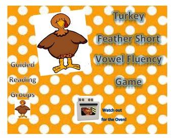 Turkey Feather Short Vowel Fluency Game